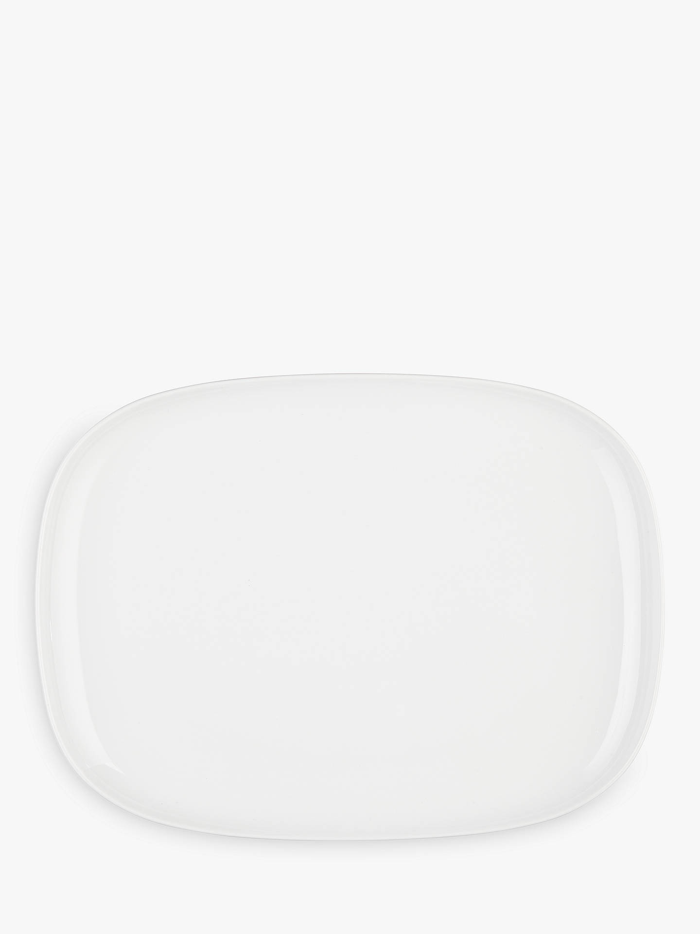 Buy House by John Lewis Eat 38cm Platter, White Online at johnlewis.com