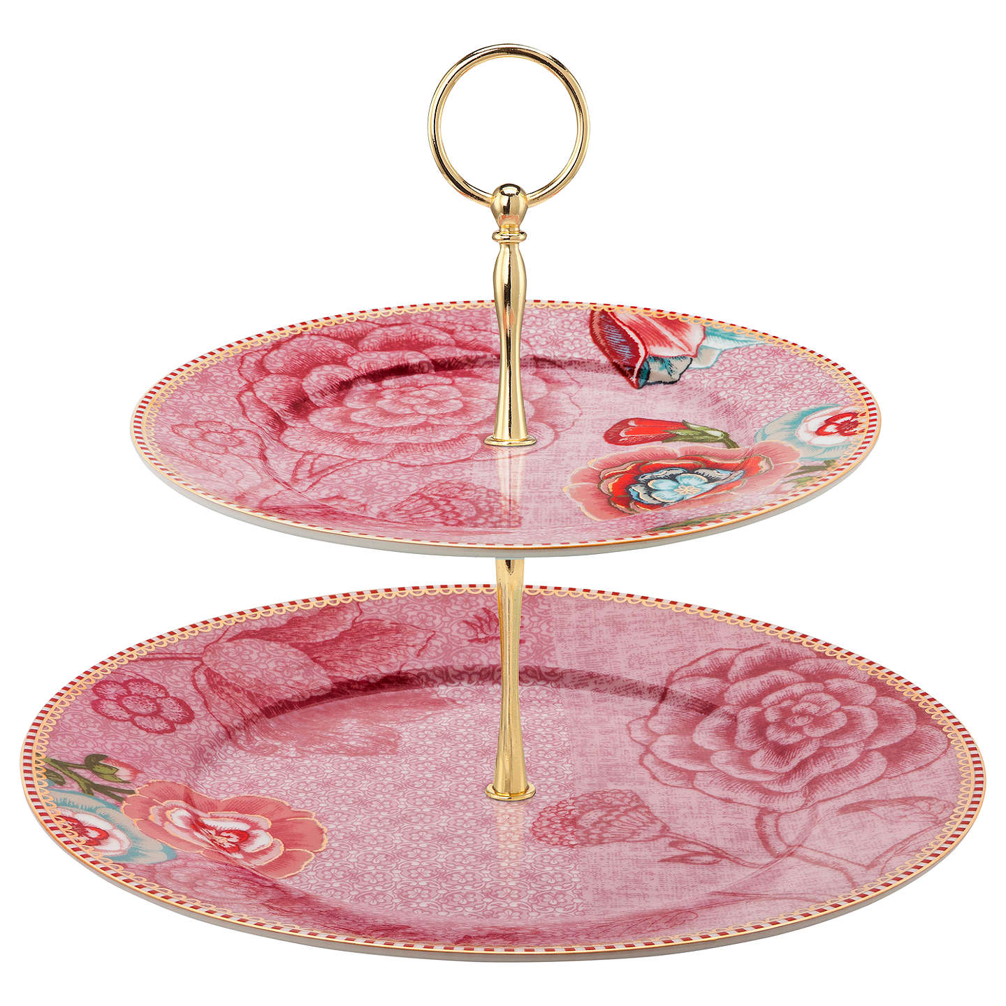Buypip Studio Spring To Life 2 Tier Cake Stand, Pink
