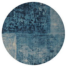 Buy west elm Distressed Rococo Round Rug, Dia.183cm, Blue Online at johnlewis.com