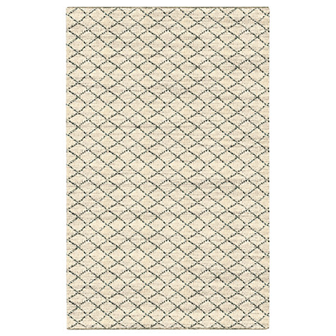 West Elm Watercolour Trellis Rug L244 X W152cm Ivory Online At Johnlewis