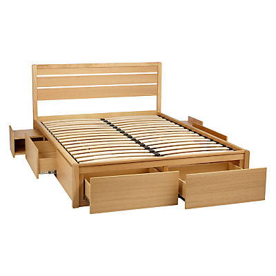 John Lewis Special Montreal Storage Bed, Double, Oak