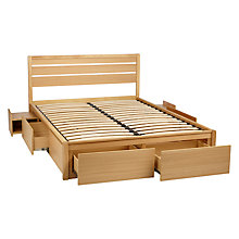 Buy John Lewis Special Montreal Storage Bed, Double, Oak Online at johnlewis.com