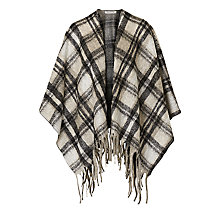Buy Betty Barclay Check Knitted Poncho, Black/Beige Online at johnlewis.com
