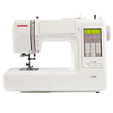 Buy Janome CS995 Computerised Sewing Machine, White Online at johnlewis.com