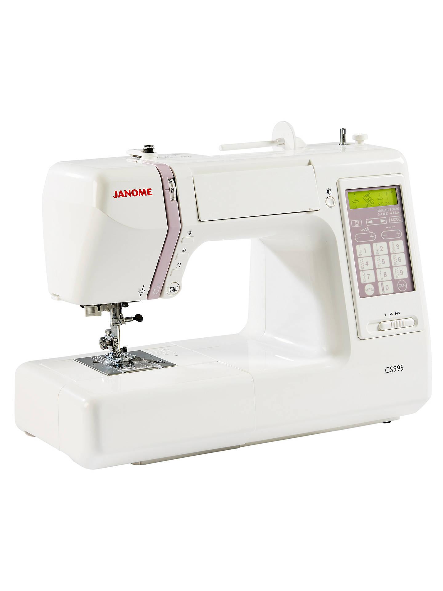 Janome CS995 Computerised Sewing Machine, White at John ...
