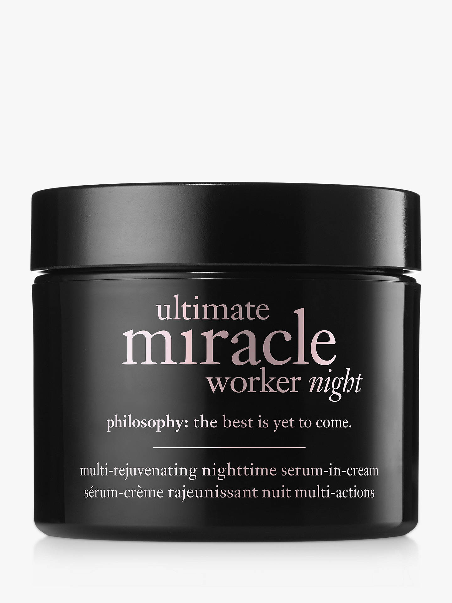 Buy Philosophy Ultimate Miracle Worker Night Serum Cream, 60ml Online at johnlewis.com