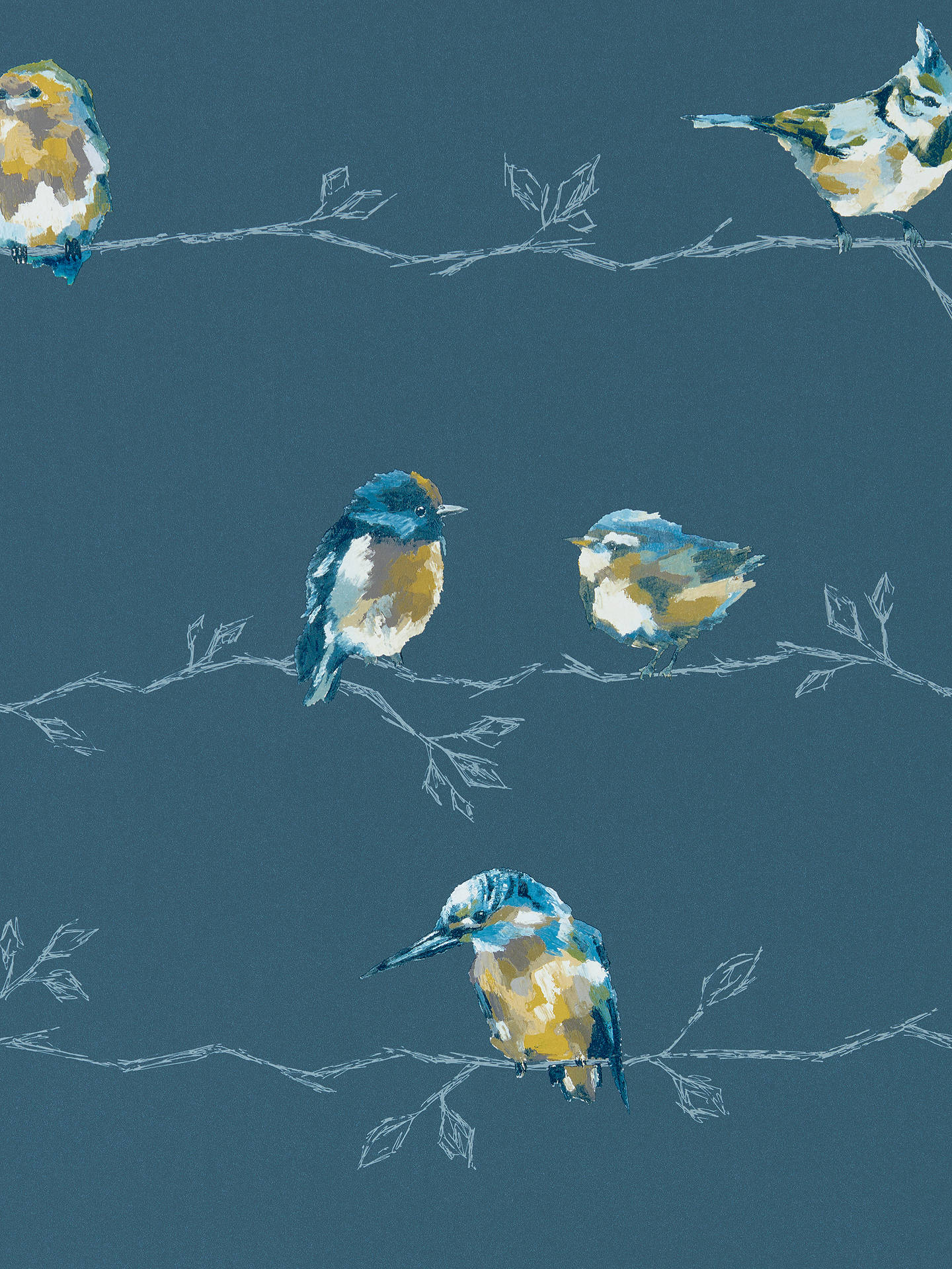 BuyHarlequin Standing Ovation Persico Paste the Wall Wallpaper, Turquoise / Navy 111487 Online at johnlewis.com