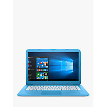 "Buy HP Stream 14-ax000na Laptop, Intel Celeron, 4GB RAM, 32GB eMMC, 1TB OneDrive and Office 365 1 Year Subscription Included, 14"", Aqua Blue Online at johnlewis.com"