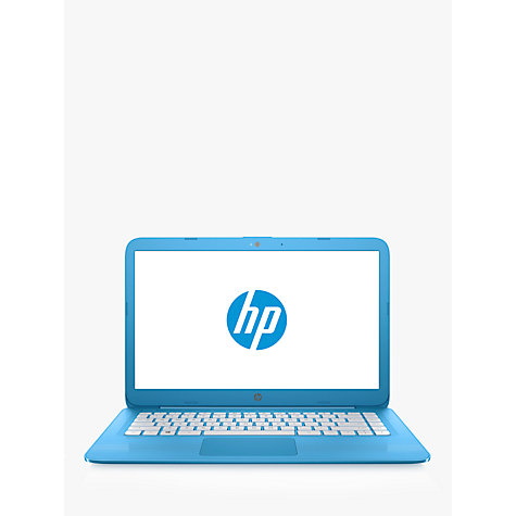 "Buy HP Stream 14-ax000na Laptop, Intel Celeron, 4GB RAM, 32GB eMMC, Office 365 with 1TB One Drive 1-Year Subscription, 14"", Aqua Blue Online at johnlewis.com"