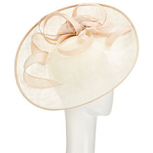 Buy John Lewis Riya Side Up Silk Flower Occasion Hat, Cream Online at johnlewis.com