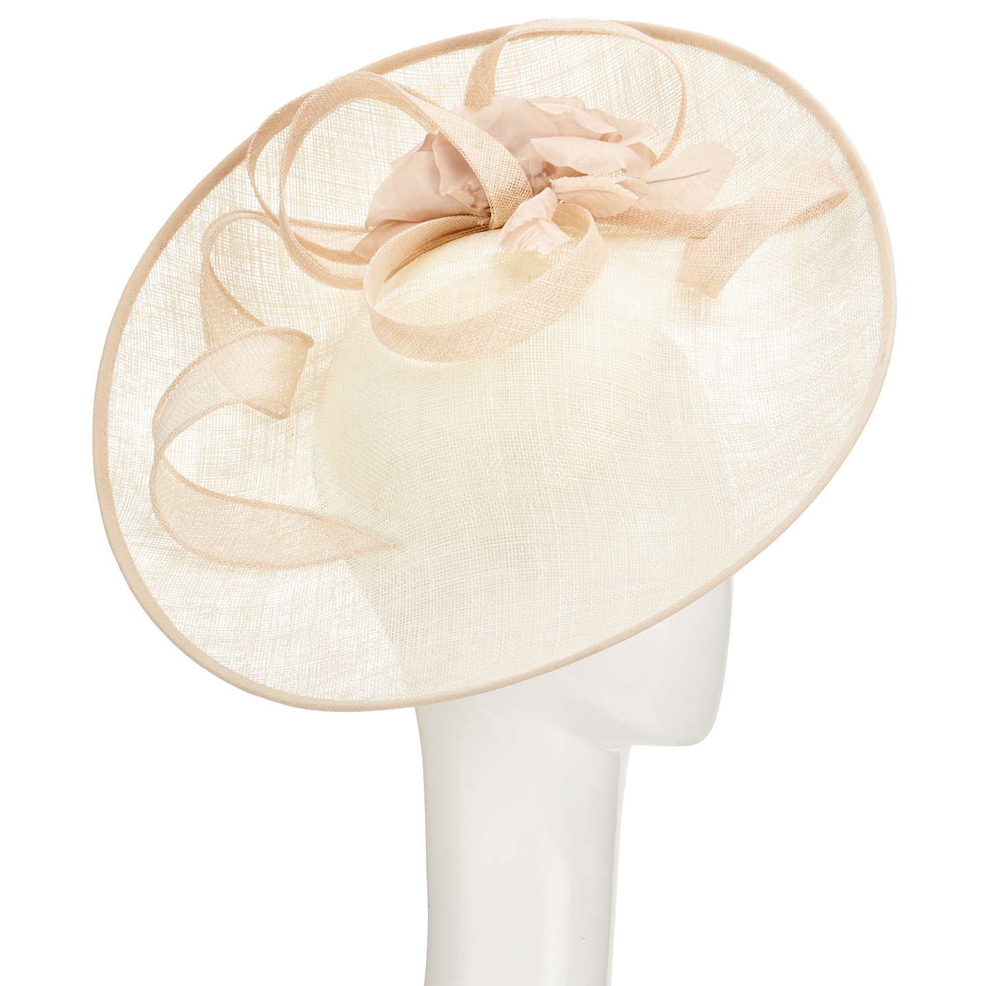 John lewis riya side up silk flower occasion hat cream at john lewis buyjohn lewis riya side up silk flower occasion hat cream online at johnlewis mightylinksfo