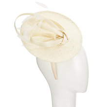 Buy John Lewis Carol Disc and Loop Occasion Hat, Cream Online at johnlewis.com