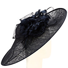 Buy John Lewis Patsy Oval Disc Quill Occasion Hat, Navy Online at johnlewis.com