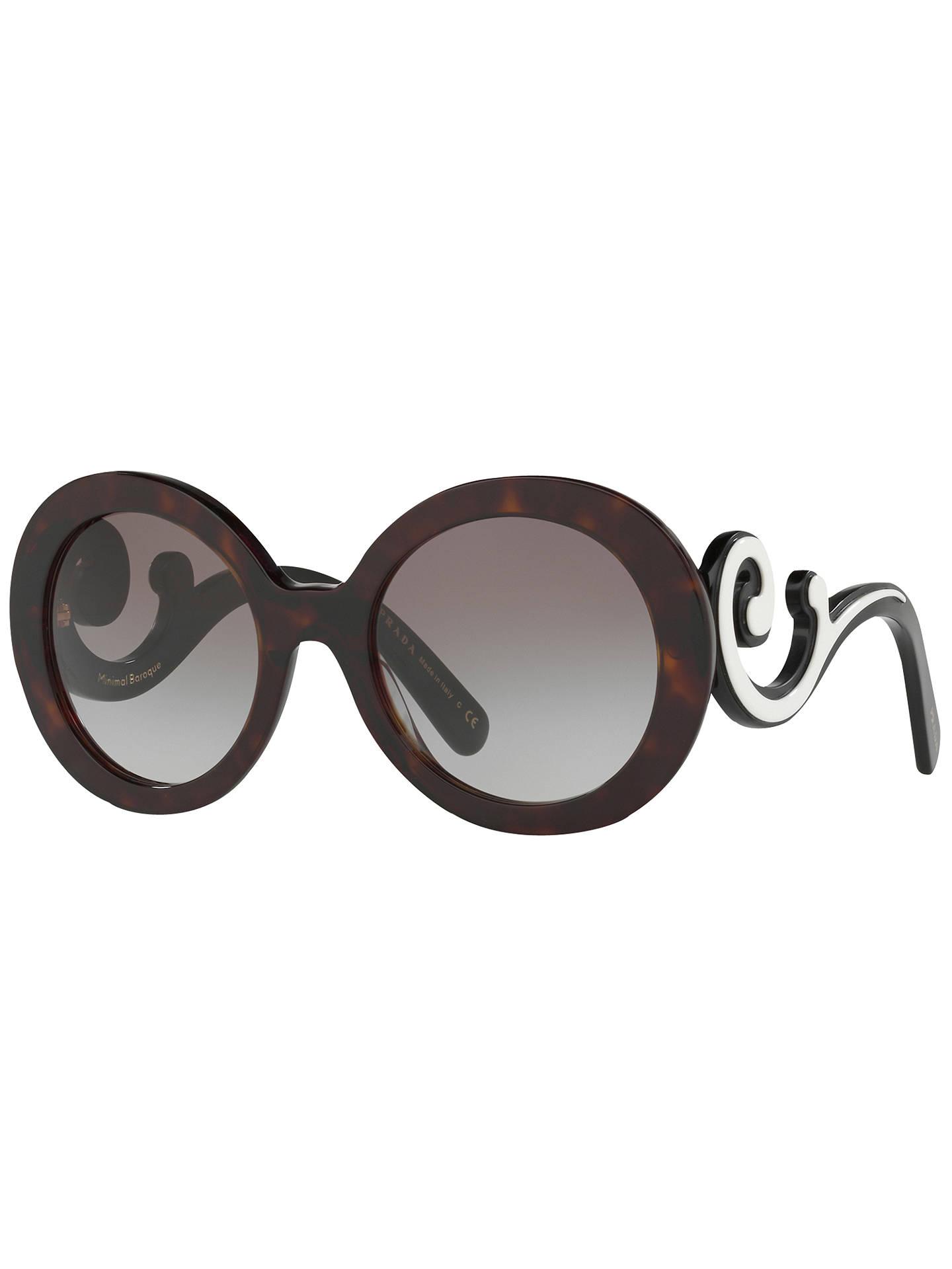 550b6487c9f6 Buy Prada PR 08TS Minimal Baroque Round Sunglasses, Tortoise/Grey Gradient  Online at johnlewis ...