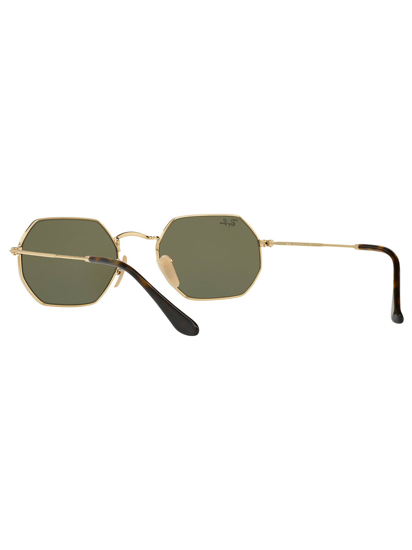 BuyRay-Ban RB3556N Heptagonal Sunglasses, Gold/Mirror Grey Online at johnlewis.com