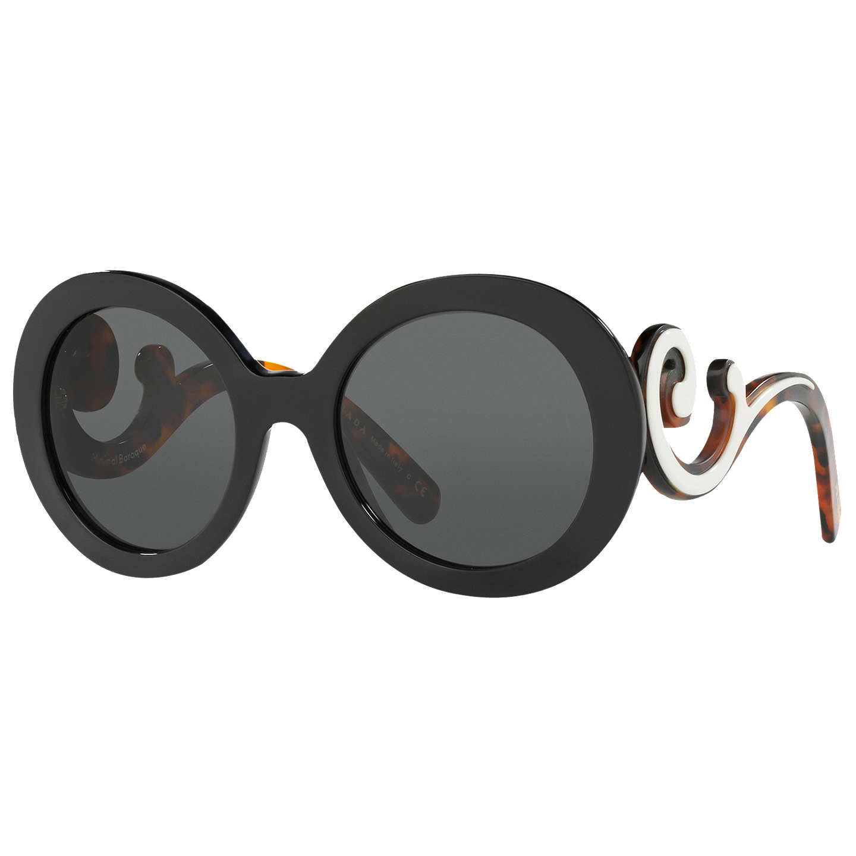 d1e590aec1c3 australia lyst prada flat top round acetate sunglasses in black d446f  e396c; ireland buyprada pr 08ts minimal baroque round sunglasses black  online at ...