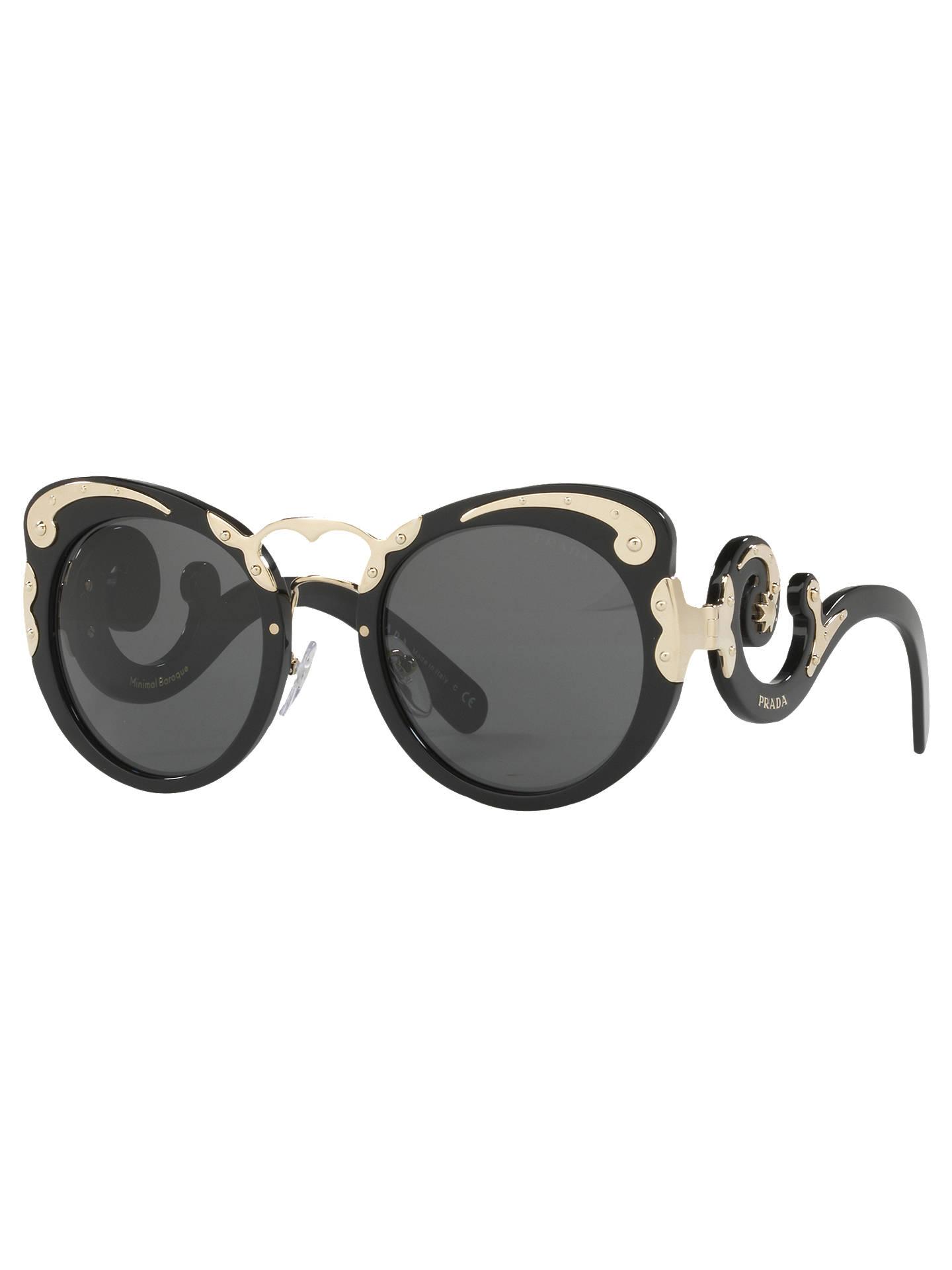 d110911c1c8b8 ... new arrivals buyprada pr 07ts structured round sunglasses black online  at johnlewis c7794 17665 spain prada ...