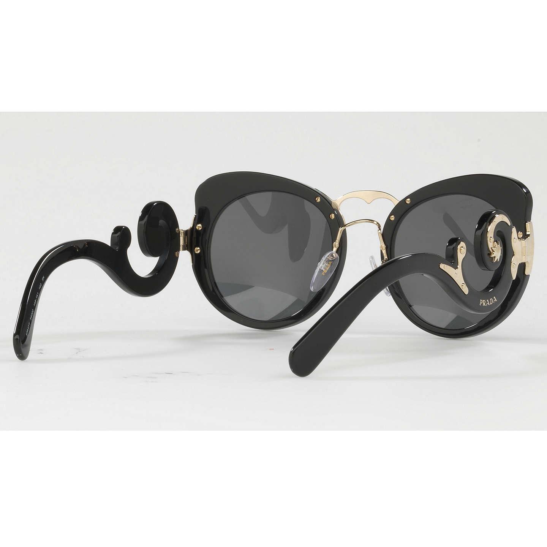fab6339d42b ... new zealand image 1 of prada sunglasses pr 66ts buyprada pr 07ts  structured round sunglasses black