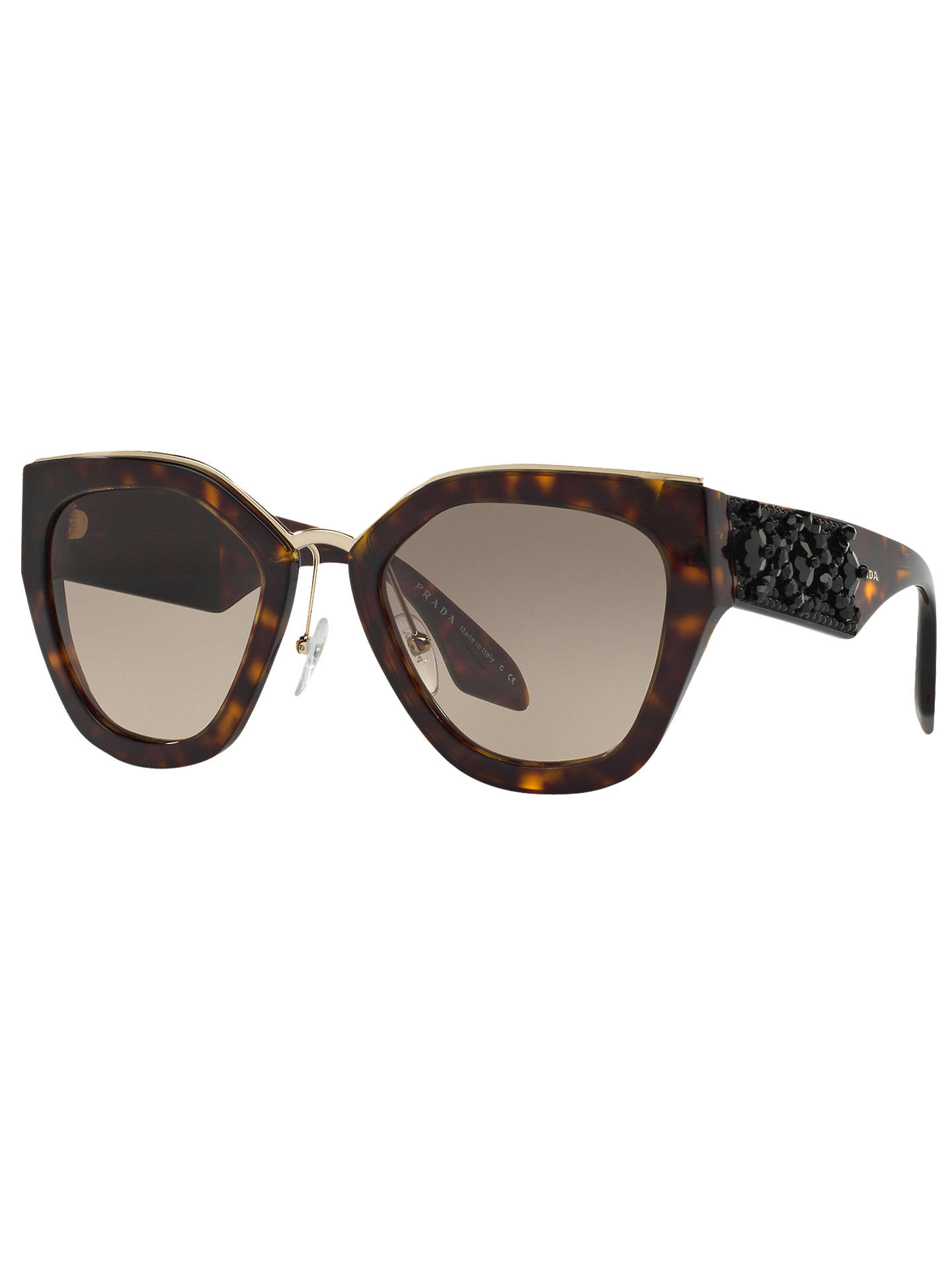 b0bcfdabf634e ... norway buyprada pr 10ts embellished geometric sunglasses tortoise brown  gradient online at johnlewis e952d 6f64d get amazon new prada ...