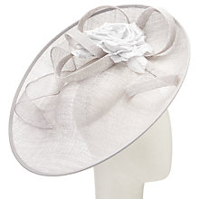 Buy John Lewis Riya Side Up Silk Flower Occasion Hat, Silver Online at johnlewis.com