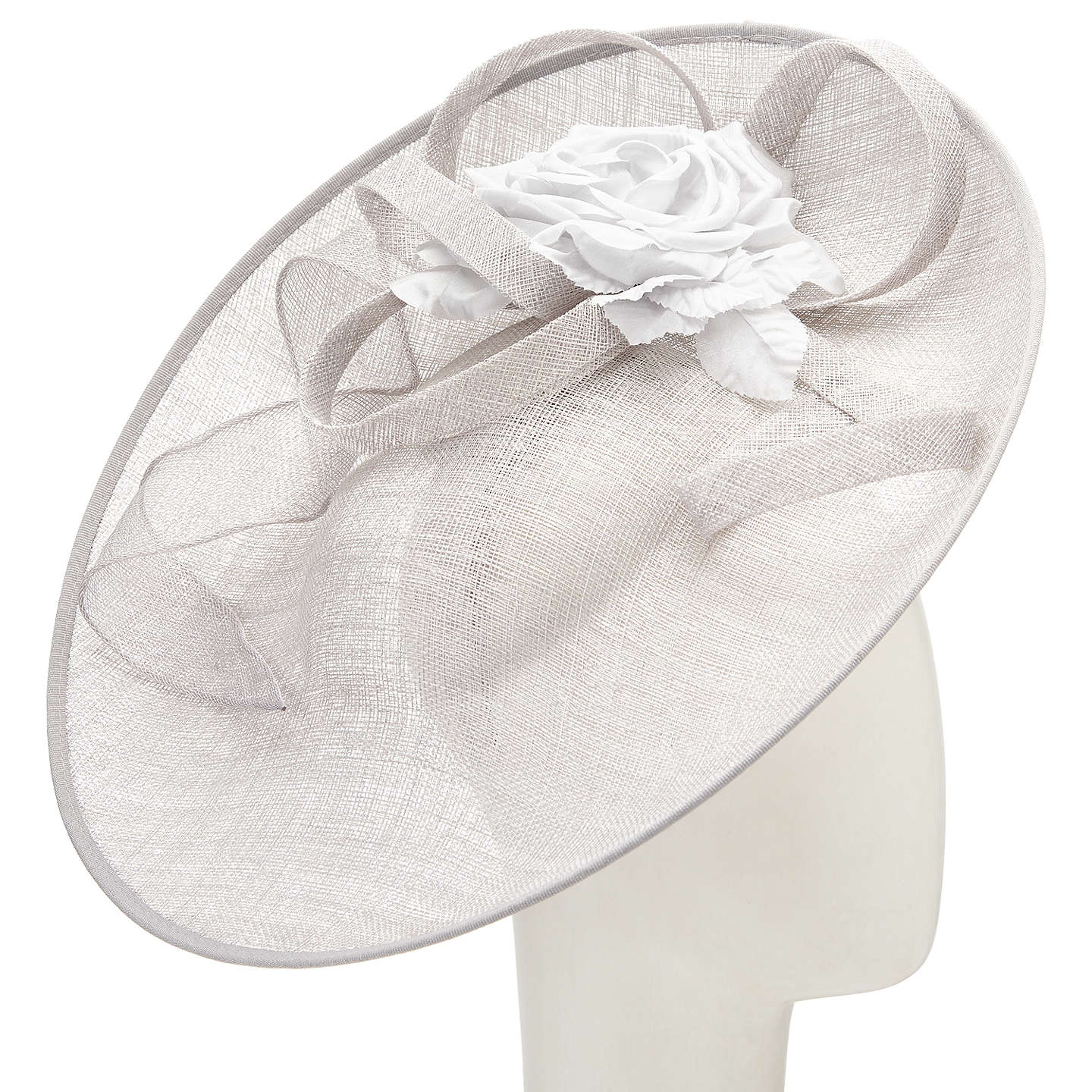 John lewis riya side up silk flower occasion hat silver at john lewis buyjohn lewis riya side up silk flower occasion hat silver online at johnlewis mightylinksfo