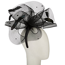 Buy John Lewis Ally Crin Diamante Fascinator, Black Online at johnlewis.com