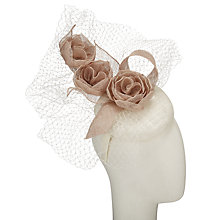 Buy John Lewis Kora Pillbox and Flower Twirl Fascinator, Latte/Ivory Online at johnlewis.com