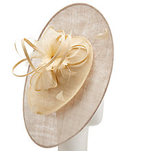 Buy John Lewis Mabel Double Disc Occasion Hat, Latte/Cream Online at johnlewis.com