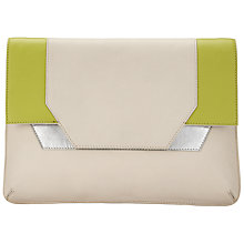 Buy Kin by John Lewis Dillon Leather Clutch Bag, Off White Online at johnlewis.com
