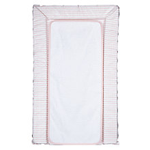 Buy John Lewis Baby Scallop Changing Mat & Liner, Pink Online at johnlewis.com