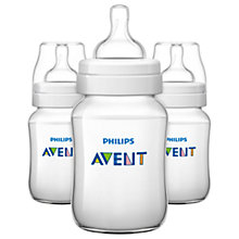 Buy Philips Avent Classic Baby Bottle, Pack of 3, 260ml Online at johnlewis.com