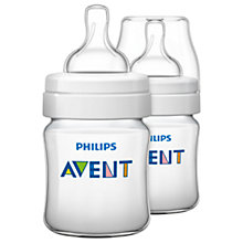 Buy Philips Avent Classic Baby Bottle, Pack of 2, 125ml Online at johnlewis.com