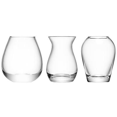 LSA International Flower Mini Vase Gift Set, Set of 3