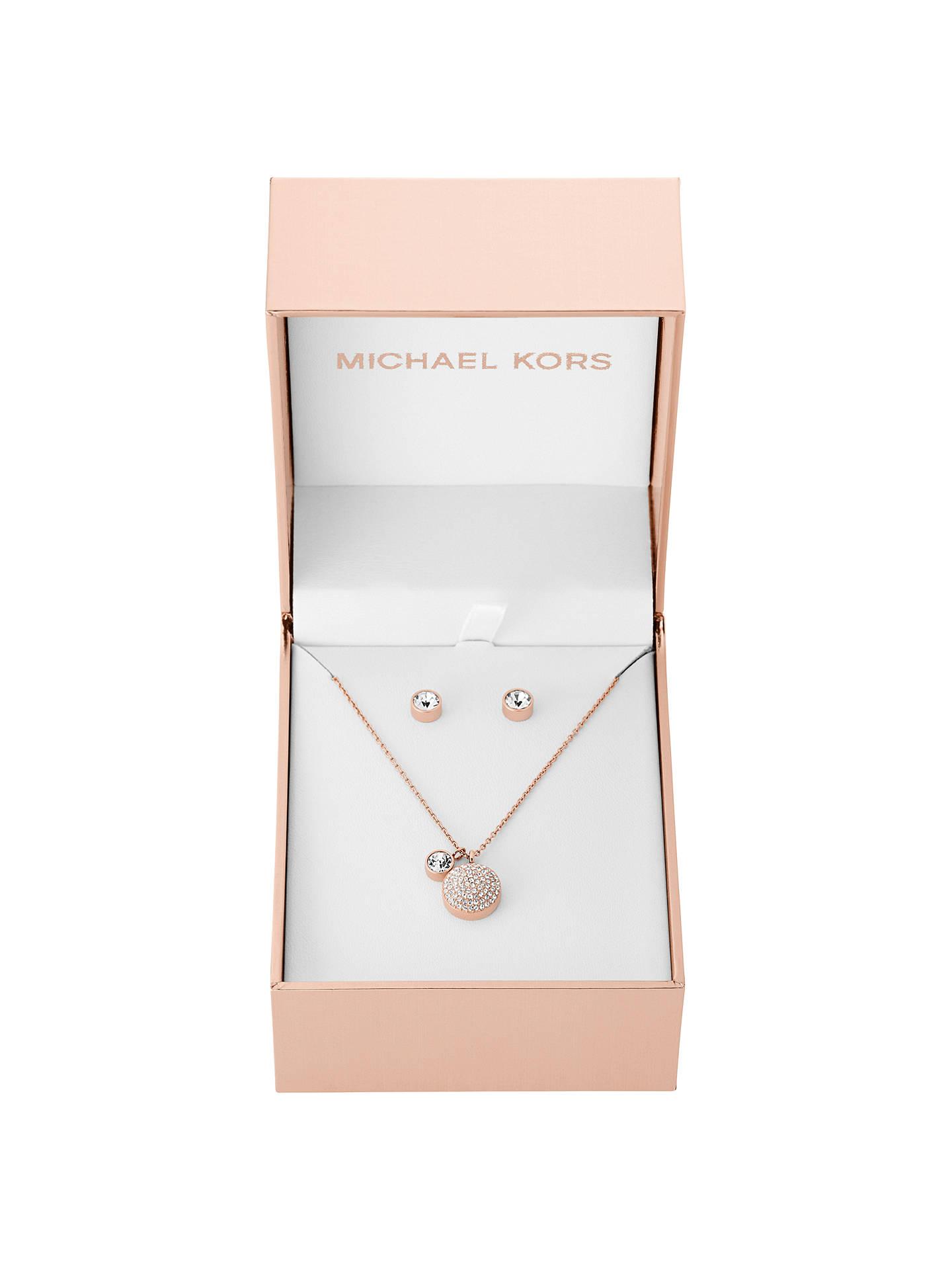 438ae90ea0d9 Buy Michael Kors Pendant Necklace and Stud Earrings Gift Set