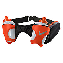 Buy Nike Double Flask Running Belt, Black/Red Online at johnlewis.com