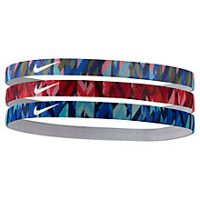 Buy Nike Print Headband, Pack of 3, Assorted Online at johnlewis.com