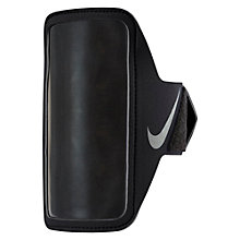Buy Nike Lean Armband, Black/Silver Online at johnlewis.com