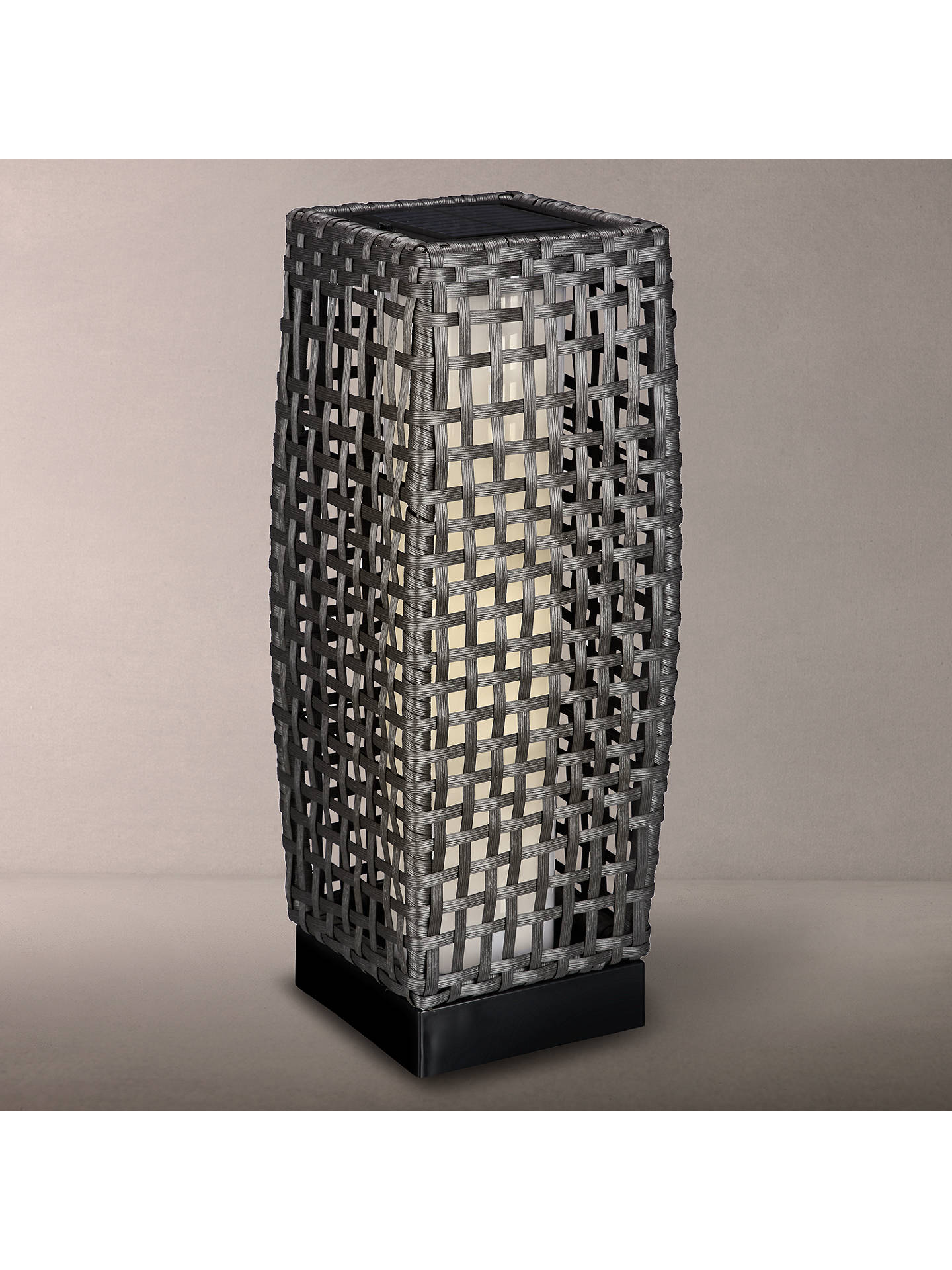 John Lewis & Partners Medium Outdoor Solar LED Rattan