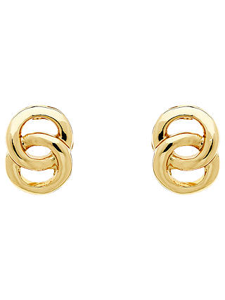 Buy Monet Double Ring Stud Earrings, Gold Online at johnlewis.com