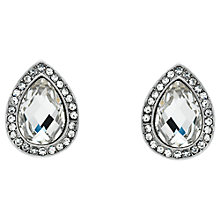 Buy Monet Glass Crystal Teardrop Stud Earrings Online at johnlewis.com