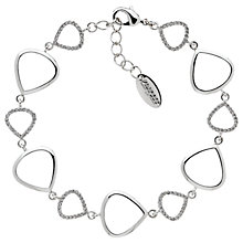 Buy Finesse Cubic Zirconia Teardrop Link Bracelet, Silver Online at johnlewis.com