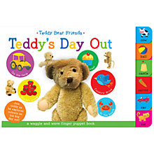 Buy Teddy's Day Out Finger Puppet Children's Board Book Online at johnlewis.com