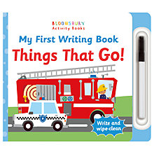Buy My First Writing Book Things That Go! Children's Book Online at johnlewis.com