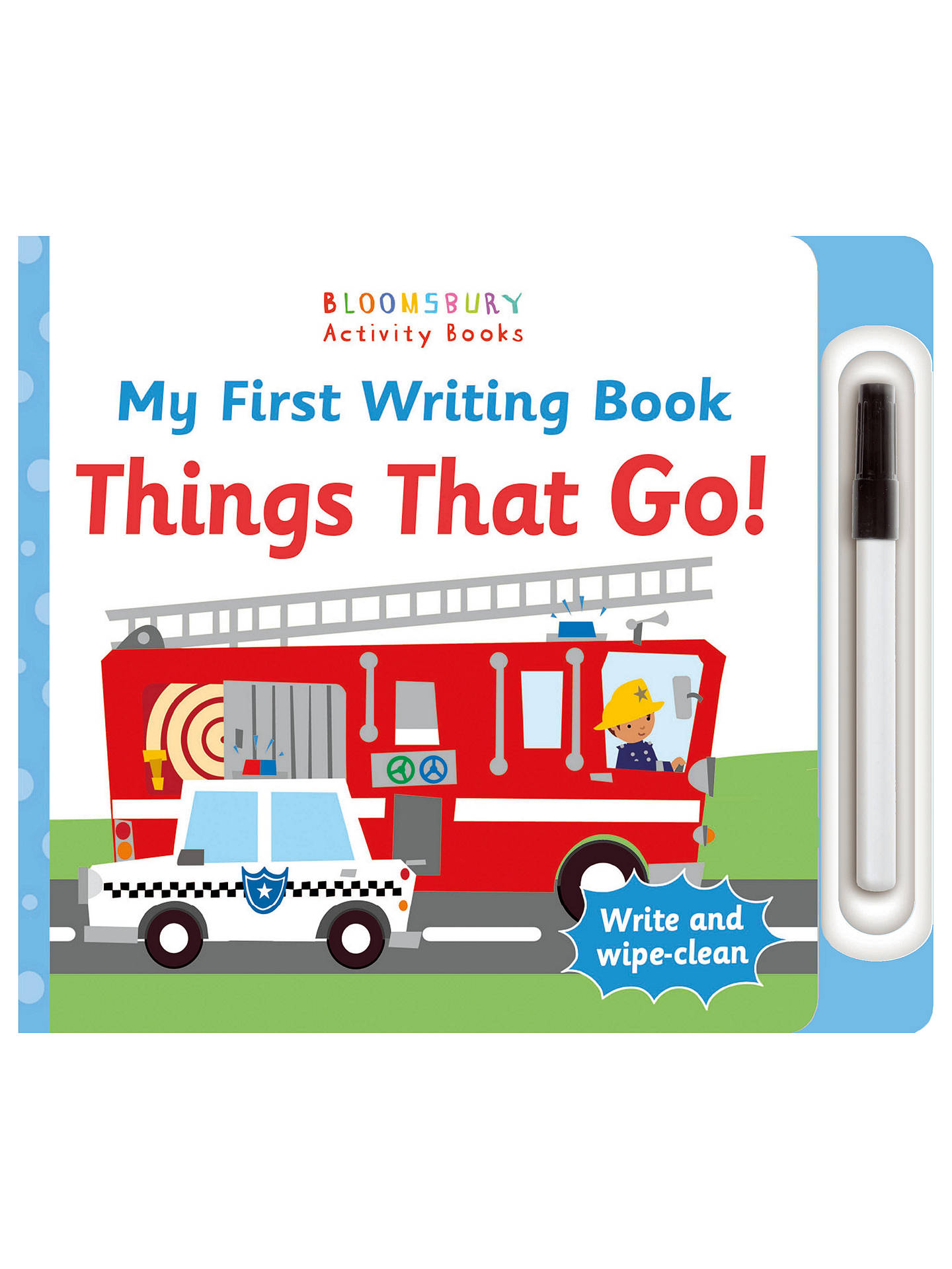 My First Writing Book Things That Go! Children's Book