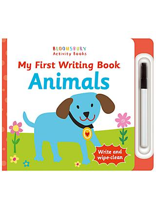 My First Writing Book Animals Children's Book