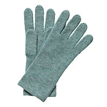 Buy Pure Collection Fiona Cashmere Gloves, Blue Frost Online at johnlewis.com