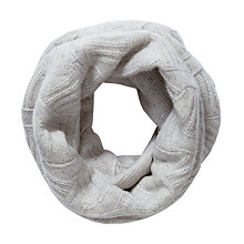 Buy Pure Collection Regina Cashmere Textured Snood, Iced Grey Online at johnlewis.com