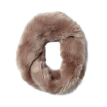 Buy Pure Collection Kristen Faux Fur Snood, Dusty Pink Online at johnlewis.com