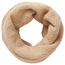 Buy Pure Collection Piper Cashmere Textured Snood, Camel Online at johnlewis.com