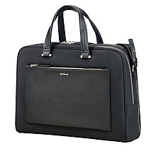 "Buy Samonsite W Zalia Bailhandle 15.6"" Laptop Briefcase, Black Online at johnlewis.com"
